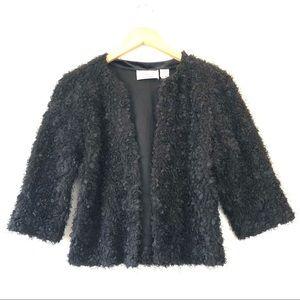 Byron Lars Beauty Mark Shaggy Embellished Jacket